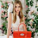 English fashion model and actress Cara Delevingne in an ad campaign for Mulberry
