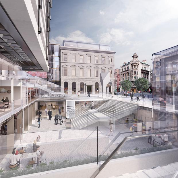 Hines Ireland's proposed plans for a Central Plaza on the site of the former Central Bank HQ in Dame Street, Dublin.