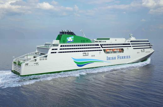 The 50,000-tonne WB Yeats passenger ferry which Irish Ferries will receive delivery of this year – it also intends to bring a new ferry into service in 2020