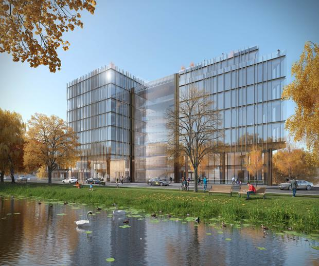 An artist's impression of One Wilton, where LinkedIn has agreed to pre-let 130,000 sq ft of office space