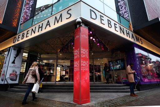 Shares have plunged 20pc after a profit warning at Debenhams