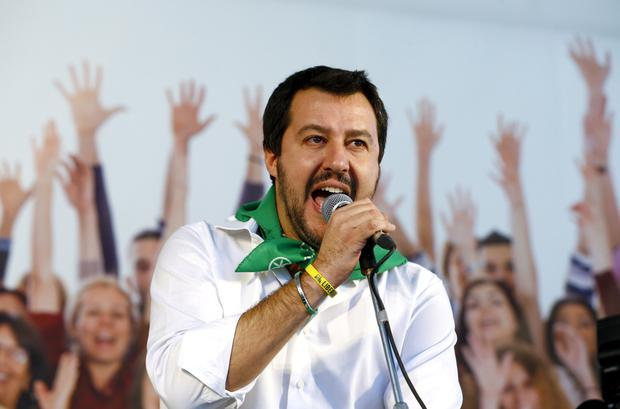 Matteo Salvini is leader of the Northern League party. Photo: Reuters