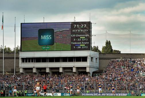 Hawk-Eye in operation during the 2014 All Ireland final clash between Kilkenny and Tipperary