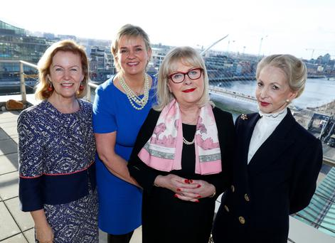 Anne Anderson, former Ambassador of Ireland to the United States; Carol Andrews, founding member of 30% Club Ireland and MD of BNY Mellon; Marie O'Connor, former country lead of the 30% Club Ireland and retired PwC Partner and Barbara Judge, chair, UK Institute of Directors