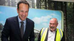 Center Parcs CEO Martin Dalby and Taoiseach Leo Varadkar TD to the official sod-turning Ceremony at the centre in Co Longford last September. Photo: Shane O'Neill, SON Photographic