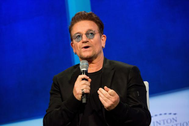 U2 frontman co-founded The Rise Fund, which is now making its first-known bet on a fintech firm. Photo: Bloomberg