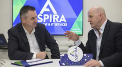 Sean Gallagher with Aspira co-founder Pat Lucey. Photo: Mark Condren