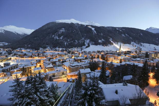 The Swiss resort of Davos will again host the elite annual meeting of the World Economic Forum. Photo: Bloomberg