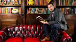 Former GAA player Oisin McConville, now a broadcaster, at a Setanta Sports Book of the Year Award launch in the library area of Lillie's Bordello in Dublin