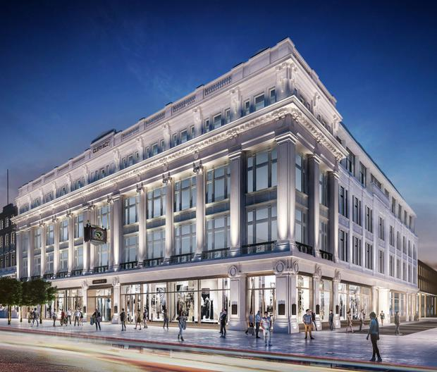 An artist's impression of the proposed redevelopment of Clerys' former department store