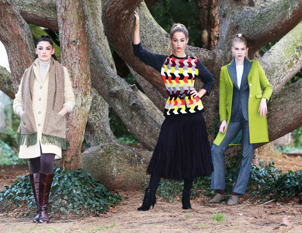 Models preview some of the Irish Fashion and textile designs which will be featured at Showcase 2018. Photo:Leon Farrell/Photocall Ireland