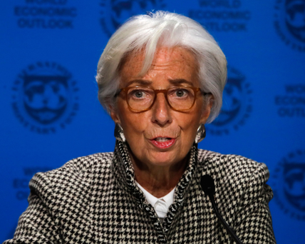 IMF managing director Christine Lagarde warned young people are 'putting their dreams on hold' on Day Two of the World Economic Forum in Davos. Photo: AP