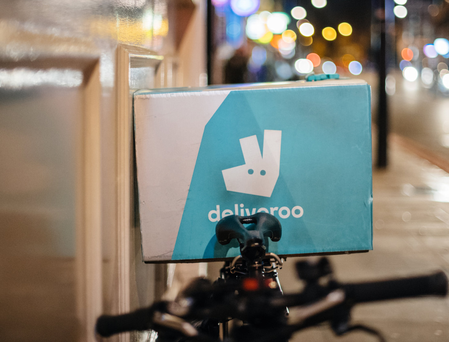 Deliveroo is growing in the Irish market. Photo: hadrian - ifeelstock