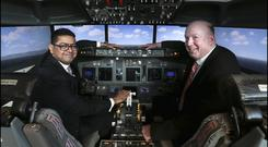 Alok Anand, chairman and CEO of Acumen Aviation, with Eamonn Cronin, chief commercial officer of Acumen Aviation. Photo: David Conachy