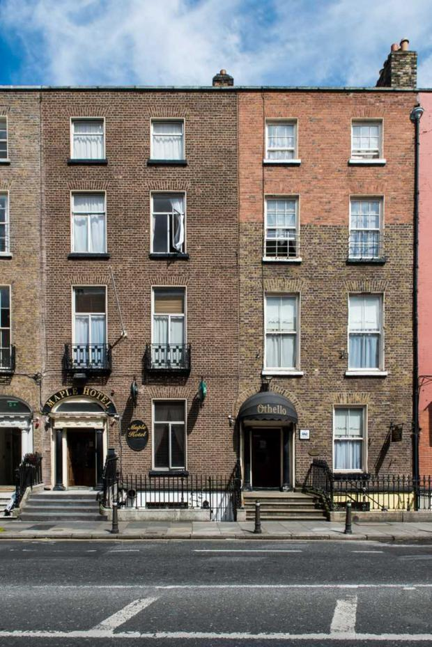 The Maple Hotel and adjoining Othello Guesthouse were sold to an investor as part of the Gardiner Street portfolio
