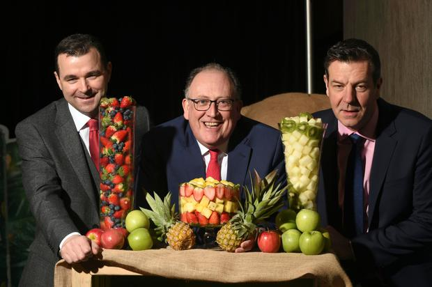 Centra's council chairman Gary Dunne, MD Martin Kelleher, and sales director Ian Allen