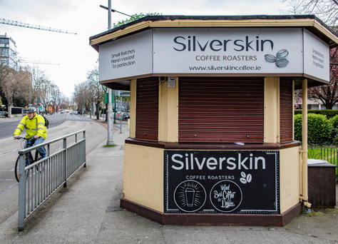 The kiosk in Ballsbridge was rented out to Silverskin coffee