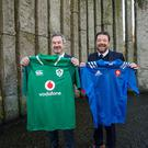 Philippe Guichard, president, Groupe Adéquat, and Adrian McGennis, CEO of Sigmar Recruitment, in Dublin's St Stephen's Green announcing the strategic partnership