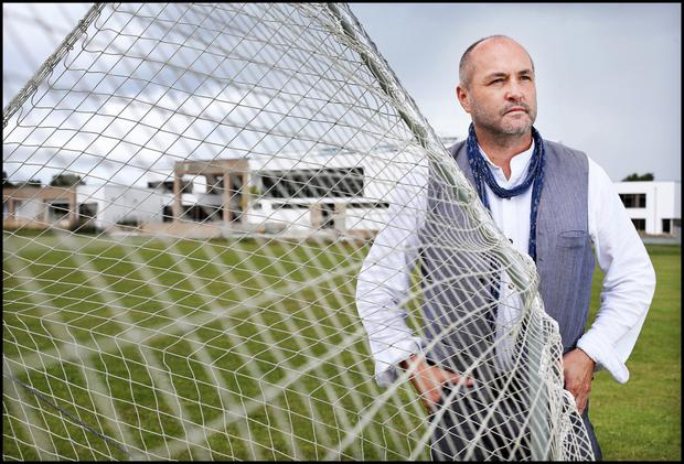 Writer Colum McCann opposes the sale of playing fields at his former school, Clonkeen College, to a developer. Photo: Steve Humphreys