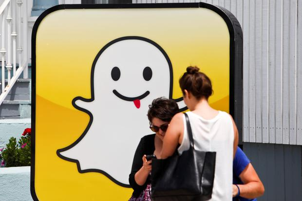 Snapchat revealed strong fourth-quarter financial results. Photo: Bloomberg
