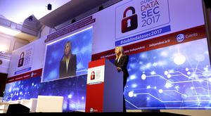 Data Protection Commissioner Helen Dixon addresses last year's Dublin Data Sec. Photo: Gerry Mooney