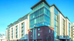 CBRE is guiding €3.75m for ground floor offices at Shelbourne Plaza in the South Docks