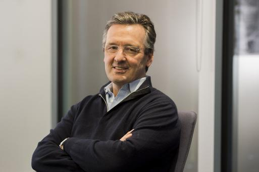 Nick O'Donohoe, of CDC, at the organisation's office in Victoria, London. Photo: David Mirzoeff