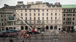 The Gresham's facade is being restored to its former glory