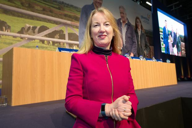 Glanbia chief executive Siobhan Talbot said she was 'surprised' at a fall in the share price value