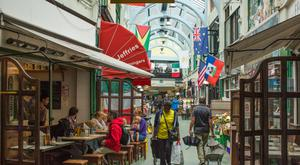 Brixton Market which is home to vibrant restaurants