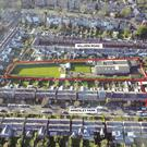 An aerial view of the site at Annesley Park in Ranelagh