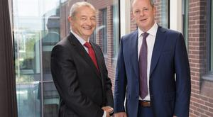 Tim Kenny, Cairn Homes chief financial officer, and Michael Stanley, group CEO. Photo: Naoise Culhane
