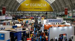 The Business Travel Show — Europe's biggest — at the Olympia convention centre in London. Photo: Newton Photography Ltd