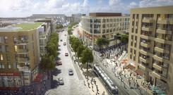 The new town centre in Cherrywood in south Dublin will include 1,269 build-to-rent apartments