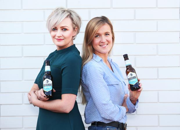 Niki MacCorquodale and brewer Yvonne Cleary at the launch of Diageo's new Rockshore lager