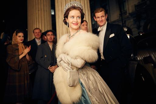Claire Foy starring as Britain's Queen Elizabeth II and Matt Williams playing Prince Philip in 'The Crown', an original drama series from online streaming entertainment company Netflix