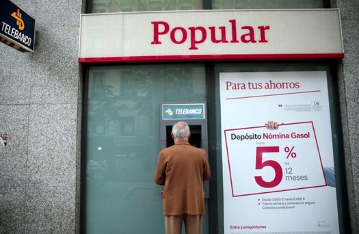 Spain's Banco Popular ran out of cash after a run on deposits