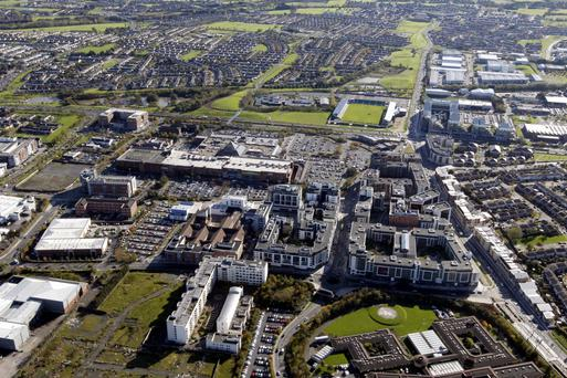 An aerial view of the Square centre and surrounding area in Tallaght, Co Dublin. Oaktree's acquisition of the Square has provided Sigma Retail Partners with the scale it requires for an IPO