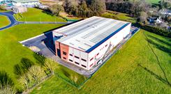 An aerial view of the former Koverto facility at Purcellsinch IDA Business Park in Kilkenny, situated 15 minutes from the city centre and close to the M9