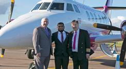 Firnas Airways managing director John Brayford, CEO Kazi Rahman and COO John Ibbotson