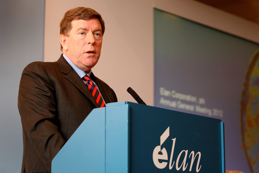 Former Malin chief executive Kelly Martin previously received €55m in an exit deal from Elan