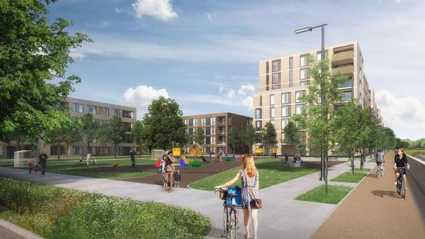 An artist's impressions of Marlet's proposed residential development in Cabra, Dublin