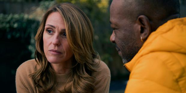 Suranne Jones and Lennie James in a scene from Sky's 'Save Me', which is returning for a second series