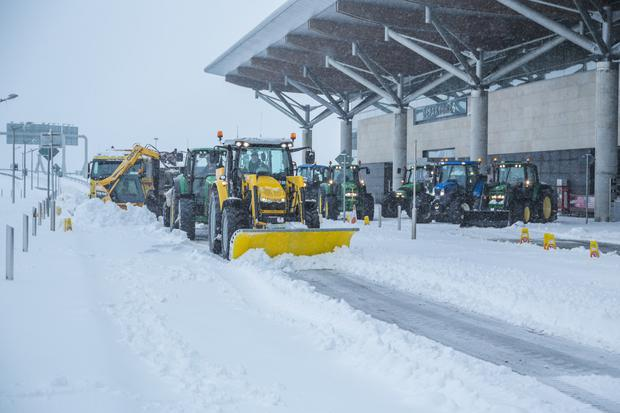 A snow-covered Cork Airport