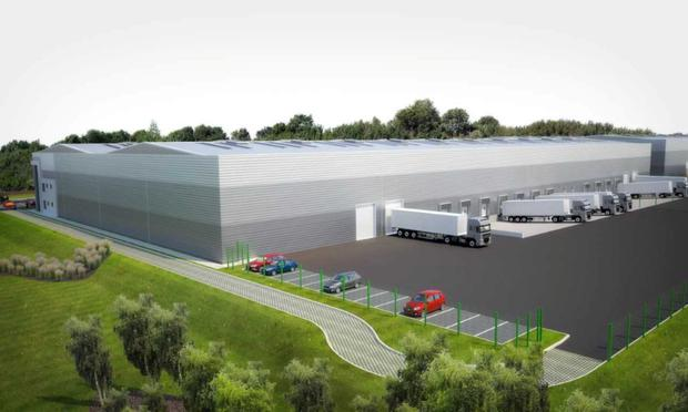 An artist's impression of Mountpark's logistics scheme at Baldonnell Business Park, which is currently under construction