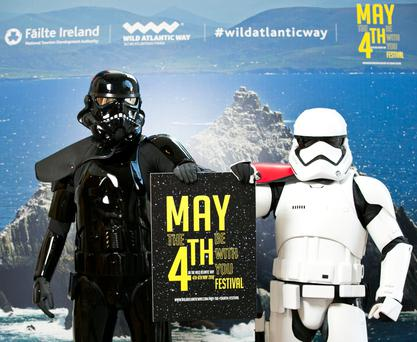 Fáilte Ireland launches new May the Fourth Be With You festival in Kerry, on the back of Star Wars filming in the West of Ireland. Photo Karl Hussey / Fennell Photography