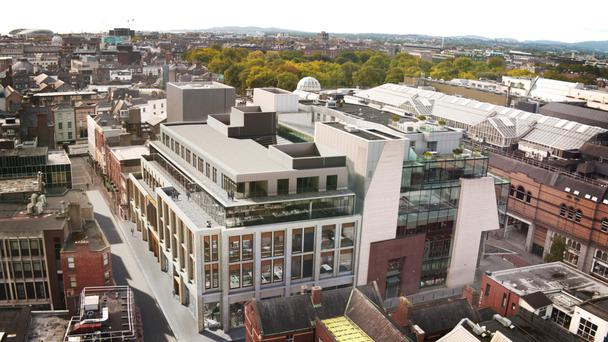 Artist's impression of how the redeveloped Chatham & King scheme, on Dublin's South King Street, will look like upon completion
