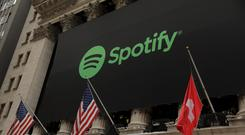 Spotify IPO at the NYSE Photo: Reuters