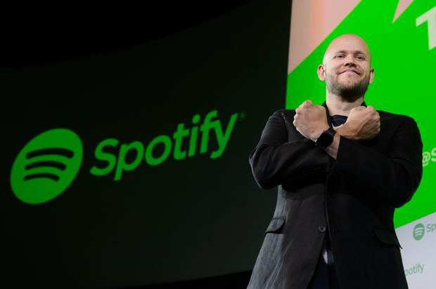 Daniel Ek, chief executive officer and co-founder of music-streaming service Spotify, which began trading on the NYSE last week