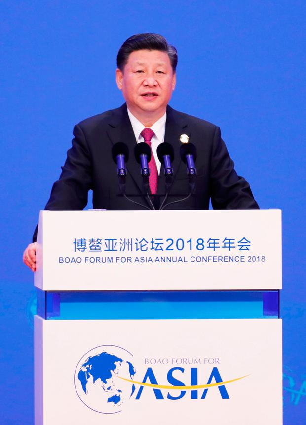 Xi Jinping delivered a keynote speech to the Boao Forum for Asia in Hainan. Photo: AFP/Getty Images